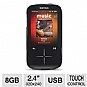 "SanDisk SDMX20R-008GK-A57 Sansa Fuze+ MP3 Player - 8GB, 2.4"" Display, Multiple Format Playback, MicroSD, USB, Black (Refurbished)"