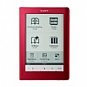 "Sony PRS-600RC Touch Edition E-Book Reader -  Rechargeable 2 Week Battery, USB, 6"" Display, 5 Adjustable Font Sizes, Red (Refurbished)"