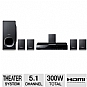 Sony DAV-TZ140 DVD Home Theater System - 5.1 Channel, 300 Watts Total, HDMI, USB, FM Tuner, Black (Refurbished)