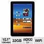 "Samsung GT-P7510MAVXAB Galaxy Tab 10.1"" WiFi Android Tablet - Android 3.1 Honeycomb, NVIDIA Dual-Core Tegra 2, 10.1"" WXGA, 1GB Memory, 32GB Storage, 802.11 a/b/g/n (Refurbished)"