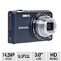 "Samsung PL210 EC-PL210ZBPUUS Compact Digital Camera - 14.2 MegaPixels, 10x Zoom, 3.0"" LCD, Blue (Refurbished)"