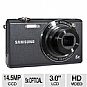 Samsung SH100 EC-SH100ZBPBUS Digital Camera - 14.5 Megapixels, 5x Optical Zoom, 3.0&quot; LCD, WIFI, Black (Refurbished)