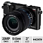 "Samsung NX200 Compact Digital Camera - 20 MegaPixels, CMOS Sensor, 18 - 55mm Lens, 3"" LCD Screen, Black (Refurbished)"