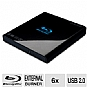 Samsung SE-506AB Slim Portable Blu-ray Writer - USB 2.0, 4GB, Blu-ray 3D Support, Black (Refurbished)