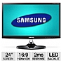 Alternate view 1 for Samsung 24&quot; Wide 1080p LED Monitor, 2ms, VGA, HDMI