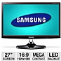 "Samsung S27B350H 27"" Class Widescreen LED Backlit Monitor - 1920 x 1080, 16:9, Mega Infinity Dynamic Contrast Ratio, 1000:1 Native, 2ms, HDMI, VGA, Energy Star"