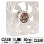 Alternate view 1 for SilenX Effizio Silent Blue LED 80mm Case Fan
