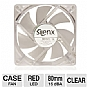 Alternate view 1 for SilenX Effizio Silent 80mm Red LED Case Fan