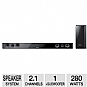 "Samsung HWE450 40"" Slim AirTrack SurroundBar - 280 Watts, 2.1 Channel, 2-way Speakers, Bluetooth, 3D Sound Plus (Refurbished)"