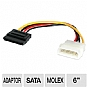 Alternate view 1 for StarTech 6&quot; Molex to SATA Power Cable Adapter