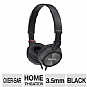 Sony MDRZX300/BLK ZX-Series Outdoor Over-Ear Monitor Headphones - Black