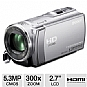 Alternate view 1 for Sony HDRCX210 Handycam HD Camcorder - Silver