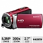 Alternate view 1 for Sony HDRCX210 Handycam HD Camcorder - Red