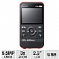 Samsung W300 Waterproof Pocket Camcorder - Full HD 1080p, 5.5 MegaPixels, 2.3&quot; LCD, 3x Digital, SD Card Slot, Built-in USB, Auto Aqua Mode, Red (Refurbished)