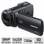 Samsung HMX-F80BN/XAA F80 HD Camcorder - 52x Optical Zoom, 130x Digital Zoom, 5 Megapixel Image Sensor, 720p HD Resolution, Black  (Refurbished)