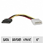 Alternate view 1 for Tripp-Lite 6&quot; SATA Power Adapter Cable 