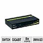 TRENDnet 8-port Gigabit GREENnet Switch - 8 x 10/100/1000Mbps Auto-MDIX RJ-45 Ports, IEEE 802.3x Flow Control