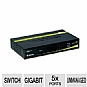 TRENDnet 5-port Gigabit GREENnet Switch - 5 x 10/100/1000Mbps Auto-MDIX RJ-45 Ports, IEEE 802.3x Flow Control