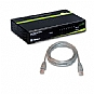 Trendnet 8 Port Switch and Cat5e 7ft Cable Bundle