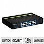 Alternate view 1 for TRENDnet 16 Port Gigabit GREENnet Switch