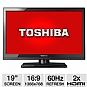 "Alternate view 1 for Toshiba 19"" Class Widescreen LED HDTV"