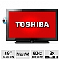 "Alternate view 1 for Toshiba 19"" 720p 60Hz LED Backlit HDTV/DVD"