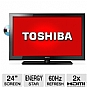 "Alternate view 1 for Toshiba 24"" 1080p 60Hz LED HDTV/DVD Combo"