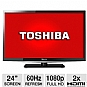 "Alternate view 1 for Toshiba 24L4200 24"" 1080p  LED HDTV REFURB"