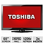 "Alternate view 1 for Toshiba 65HT2U 65"" 1080p 120Hz LCD HDTV REFURB"