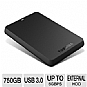 Alternate view 1 for Toshiba Canvio Basics USB 3.0 750GB Portable HDD