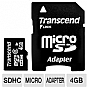 Alternate view 1 for Transcend 4GB Micro SDHC Card