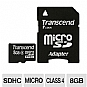 Alternate view 1 for Transcend 8GB microSDHC Flash Memory Card