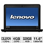 Alternate view 1 for Lenovo 11.6&quot; Celeron 320GB HDD Notebook