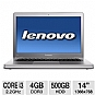 Alternate view 1 for Lenovo IdeaPad U400 14&quot; Gray Notebook REFURB