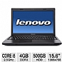 Lenovo G570 4334-9KU Notebook PC - Intel Core i5-2450M 2.5GHz, 4GB DDR3, 500GB HDD, DVDRW, 15.6&quot; Display, Windows 7 Home Premium 64-bit, Black (Refurbished)