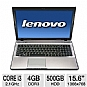 "Lenovo IdeaPad Z570 1024-3JU Notebook PC - Intel Core i3-2310M 2.1GHz, 4GB DDR3, 500GB HDD, DVDRW, 15.6"" Display, Windows 7 Home Premium 64-bit, Gray (Refurbished)"