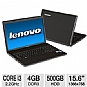 "Alternate view 1 for Lenovo Essentials G570 15.6"" Black Notebook REFURB"