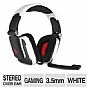 Thermaltake Tt eSports Shock Gaming Headset - 40mm Drivers, In-Line Sound Control, Adjustable Headband, Noise Cancelling Microphone, 3.5mm Connectors, PC, White