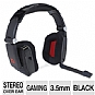 Thermaltake Tt eSports Shock Gaming Headset - 40mm Drivers, In-Line Sound Control, Adjustable Headband, Noise Cancelling Microphone, 3.5mm Connectors, PC, Black