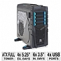 "Thermaltake VN300M1W2N Chaser MK-I Full Tower Gaming Case - ATX, Micro ATX, 4x Ext 5.25"", 6x Int 3.5"", 2x 200mm Fans, 1x 140mm Fan, 2x USB 3.0 Ports, 2x USB 2.0 Ports, 1x eSATA Port, Colorshift Fans"