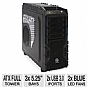 "ThermalTake VN700M1W2N Overseer RX-I Full Tower Gaming Case - ATX, Micro-ATX, Extend ATX, 3 Ext 5.25"", 1 Ext 3.5"", 5 Int 3.5"", 2x 200mm LED Fans, 1x 120mm Fan, 2 USB 3.0, 2 USB 2.0, 1 eSATA, Window"