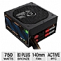 Alternate view 1 for Thermaltake 750W 80 PLUS Bro Modular Power Supply