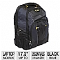 Ultra U12-41432 Scout Laptop Backpack - Fits Notebook PCs up to 17.3&quot;, Essentials Organizer, Base Stabilizing Platform, Enhanced Comfort Shoulder Straps, Black / Blue