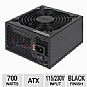 Ultra Limited Edition 700W Power Supply - ATX, 115/230V, Black Finish, Lifetime Warranty with Registration (Refurbished)