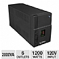 Xfinity 2000VA 1200w UPS w/ AVR & Digital Display - 6 Outlets, 120V, Voltage Boost, 1065 Joules, 4 Battery Backup/Surge & 2 Surge Only Outlets, 3 Year Warranty with Registration