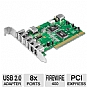Alternate view 1 for Ultra 8 Port USB 2.0/Firewire PCI Combo Card