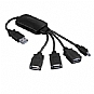Ultra ULT40290 4-Port USB 2.0 Hub - Mini USB Connectivity, 480Mbps, Black