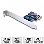 Alternate view 1 for Vantec 2 Port SATA II PCIe Raid Card