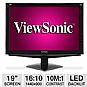 "Alternate view 1 for ViewSonic 19"" Class Flat Panel LED HD Monitor"
