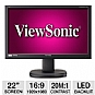 "Alternate view 1 for Viewsonic VG2236wm-LED 22"" Ergonomic LED Monitor"
